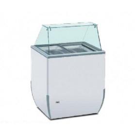 Vetrina refrigerata per Gelato - Temp. -18°/-25°C - Capacità 4 vaschette da 5 lt.