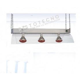 Lampade ad infrarossi a sospensione - 750 Watt - n. 3 Lampade