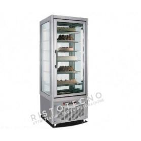 Espositore Vetrina refrigerata per pasticceria a 4 lati in vetro - Temp. -15/-24°C