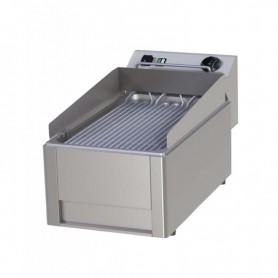 Griglia elettrica ad acqua - Tondini inox - Dim.cm. 33x60x31,4HH.