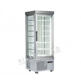 Espositore Vetrina refrigerata per pasticceria a 4 lati in vetro - Temp. -15°/-25°C