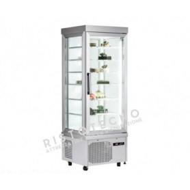 Espositore Vetrina refrigerata per pasticceria a 4 lati in vetro - Temp. +5°/-25°C