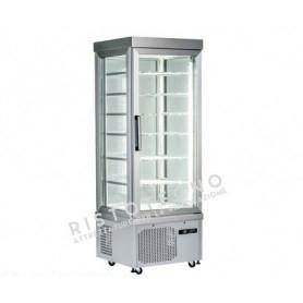 Espositore Vetrina refrigerata per pasticceria a 4 lati in vetro - Temp. +10°/-5°C