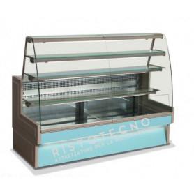 Banco Vetrina espositiva refrigerata per PASTICCERIA. Lunghezza cm. 210 - Temp. +3°/+5°C