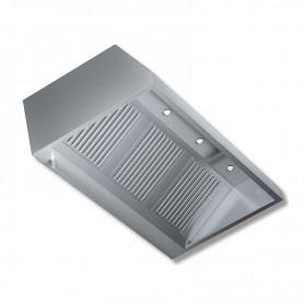 Cappa aspirante a parete senza motore con illuminazione a faretti - prof. 90 cm