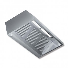 Cappa aspirante a parete senza motore con illuminazione a led - prof. 90 cm