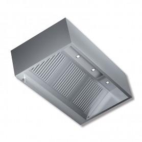 Cappa aspirante a parete Kubica senza motore con illuminazione a faretti - prof. 90 cm