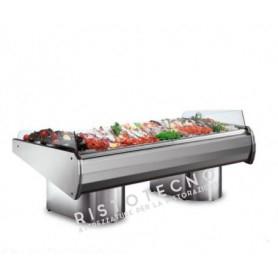 Vetrina espositiva refrigerata per PESCE - Modalità self service - Lunghezza cm. 250