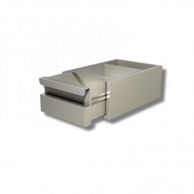 Cassettiera Inox ad 1 cassetto per prof. 60 - Dim.cm. 40x58x13H.