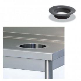 Forno cernita per sbarazzo rifiuti con anello in gomma Ø cm. 21