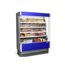 Espositore Murale refrigerato per Bibite e Latticini. Lunghezza cm. 208 - Temp. +3°/+5°C