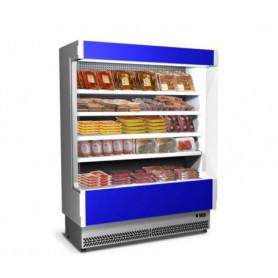 Espositore Murale refrigerato per Carne Preonfezionata. Lunghezza cm. 133 - Temp. 0°/+2°C
