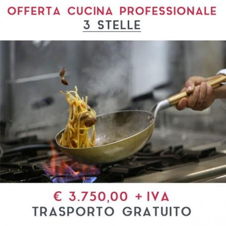 ATTREZZATURA APERTURA CUCINA PROFESSIONALE - LINEA 3 STELLE € 3.750