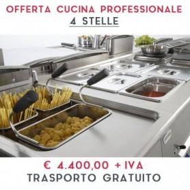 ATTREZZATURA APERTURA CUCINA PROFESSIONALE - LINEA 4 STELLE € 4.400