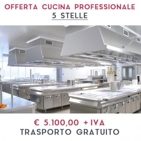 ATTREZZATURA APERTURA CUCINA PROFESSIONALE - LINEA 5 STELLE € 5.100