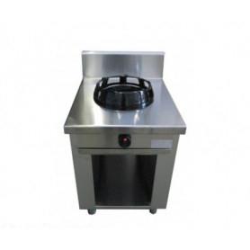 Cucina etnica WOK ad 1 fuoco. Cm. 60x60x85H.