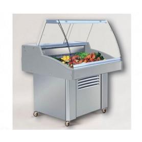 Vetrina espositiva refrigerata per PESCE - Lunghezza cm. 131