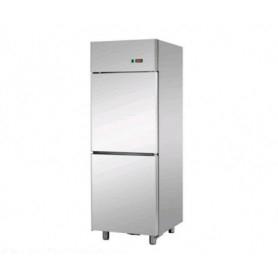 Armadio Refrigerato 600 Lt. Acciaio inox. 0°/+8°C • DOPPIA PORTA