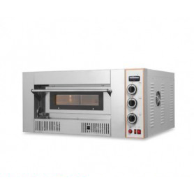 Forno Pizza a GAS 1 camera. Capacità 4 pizze Ø 32 cm. - Dim.cm. interne 62x62x15