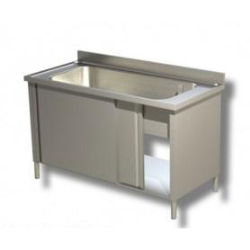 Lavapentole ad 1 vascone. Altezza vasca cm. 35. • Prof. 60