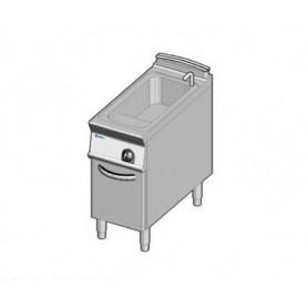 Cuocipasta a GAS ad 1 vasca d lt. 40. Dim.cm. 40x90x85H. - Potenza termica 15 Kw.
