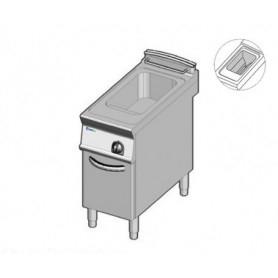 Friggitrice a GAS ad 1 vasca da lt. 21. Dim.cm.40x90x85H. - Potenza termica 19 Kw. • Vasca Pulita