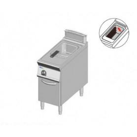 Friggitrice ELETTRICA ad 1 vasca da lt. 21. Dim.cm.40x90x85H. - Potenza elettrica 20 Kw. • Resistenze Rotanti