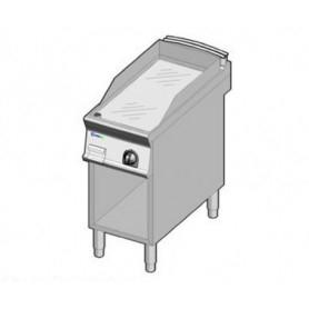 Fry Top ELETTRICO con piano di cottura LISCIO . Dim.cm. 40x90x85H. - Assorbimento 6 Kw.