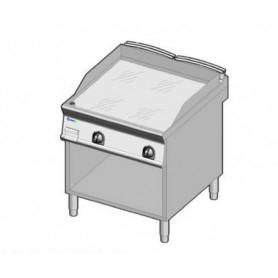 Fry Top ELETTRICO con piano di cottura LISCIO . Dim.cm. 80x90x85H. - Assorbimento 12 Kw.