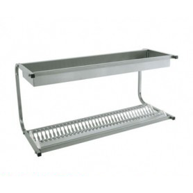 Pensile aperto scolapiatti • 1 ripiano piatti e 1 ripiano bicchieri - cm. 83x42x48H. • Portata 30 piatti