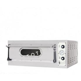 Forno Pizza elettrico 1 camera. Capacità 1 teglia 60x40 • 2 pizze Ø 40 cm. - Kw. 3.4