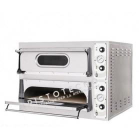 Forno Pizza elettrico 2 camere. Capacità 2 teglia 60x40 • 4 pizze Ø 40 cm. - Kw. 6.8