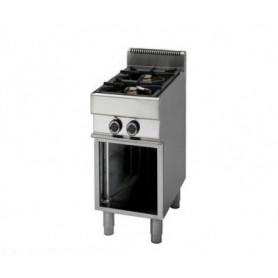 Cucina a GAS 2 fuochi a fiamma libera. Dim.cm. 40x70x85H. - Potenza termica 9.2 Kw.