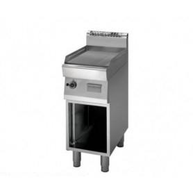 Fry Top a gas con piano RIGATO cromato. Dim.cm. 40x70x85H. - Potenza termica 5.70Kw.