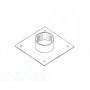 Flangia piastra collarino per uscita cappa. Base cm. 35x35