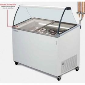 Vetrina refrigerata per Gelato a carapine - Temp. -14°/-16°C - Capacità 4+2 carapine