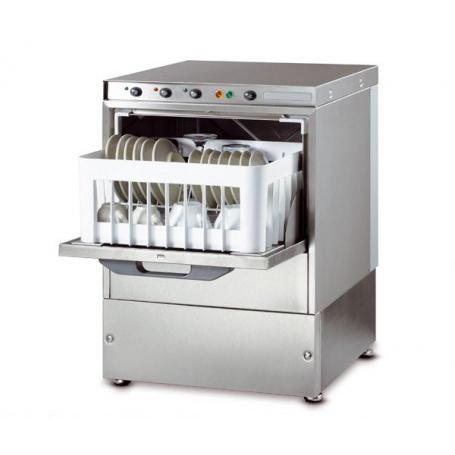 Lavabicchieri elettromeccanica cestello 35x35 - H. bicchiere 18 cm. - dosatore brillantante incorporato