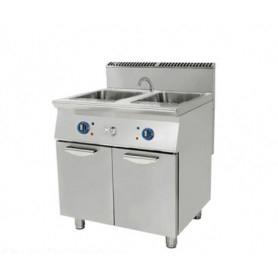 Cuocipasta a 2 vasche da lt. 40+40 a GAS. Dim.cm. 80x90x85H. - Potenza termica 24 Kw.