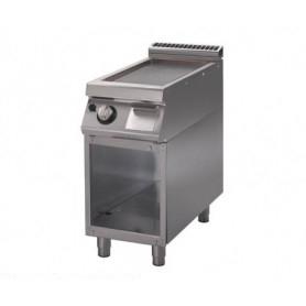 Fry Top a gas con piano di cottura RIGATO. Dim.cm. 40x90x85H. - potenza termica 7 Kw.