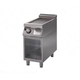 Fry Top a gas con piano di cottura LISCIO. Dim.cm. 40x90x85H. - potenza termica 7 Kw.
