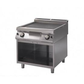 Fry Top a gas con piano di cottura LISCIO. Dim.cm. 80x90x85H. - potenza termica 14 Kw.