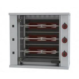 Girarrosto da banco elettrico. 3 Spade - capacità 9 polli • Assorbimento 4
