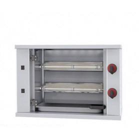 Girarrosto da banco a gas. 2 Spade - capacità 6 polli • Potenza assorbita 6020 Kcal