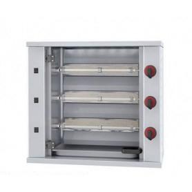 Girarrosto da banco a gas. 3 Spade - capacità 9 polli • Potenza assorbita 9030 Kcal