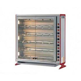 Girarrosto a GAS. 6 Spade - capacità 36 polli • Potenza termica 28 Kw