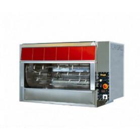 Girarrosto PLANETARIO a GAS • 10 + 2 aste • capacità 105 polli
