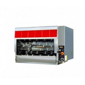Girarrosto PLANETARIO a GAS • 12 + 6 aste • capacità 108 polli
