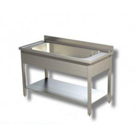 Lavapentole ad 1 vascone. Altezza vasca cm. 35. Prof. 70
