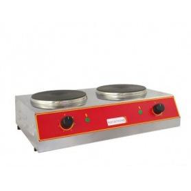 Piastra cottura Elettrica DOPPIA - 2.000 + 2.000 watt