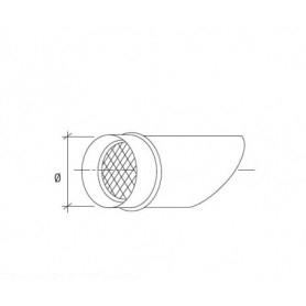 Terminale a fetta di salame con rete antivolatile per tubazione cappa • in ACCIAIO INOX AISI 304